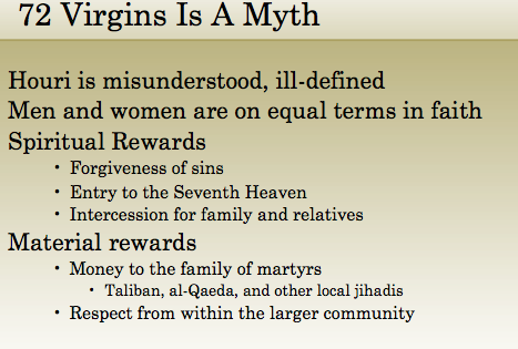 martyr virgins Islam